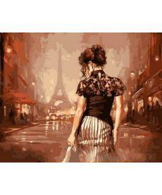 Картина по номерам Винтажный Париж 40 х 50 см (VP543)