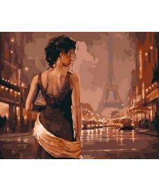 Картина по номерам Париж в старинных тонах 40 х 50 см (VP544)