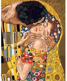 Картина по номерам Поцелуй 40 х 50 см (VP547)