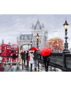 Картина по номерам Осень в Лондоне 40 х 50 см (VP552)