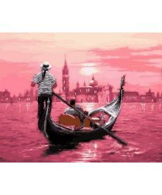Картина по номерам Розовый закат Венеции 40 х 50 см (VP554)
