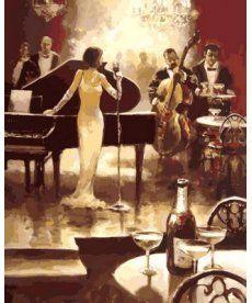 Картина по номерам Ночь джаза 40 х 50 см (VP560)