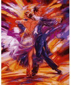 Картина по номерам Зажигательное танго 40 х 50 см (VP564)