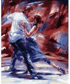 Картина по номерам Страсть в стиле танго 40 х 50 см (VP566)