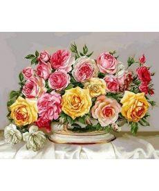Картина по номерам Розовое великолепие 40 х 50 см (VP577)