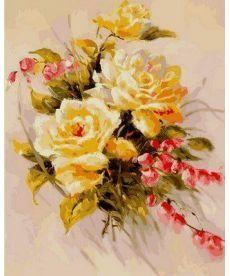 Картина по номерам Желтые розы 40 х 50 см (VP589)