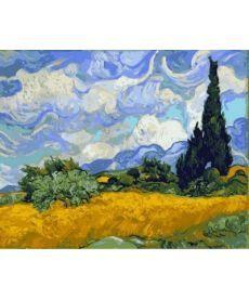 Картина по номерам Пшеничное поле с кипарисами 40 х 50 см (VP594)