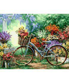 Картина по номерам Цветочный рынок 40 х 50 см (VP639)