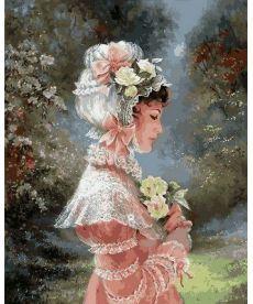 Картина по номерам Девушка в чепце с лентами 40 х 50 см (VP673)