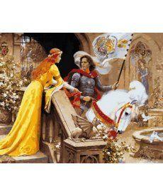 Картина по номерам Ланселот и Гвиневера 40 х 50 см (VP680)
