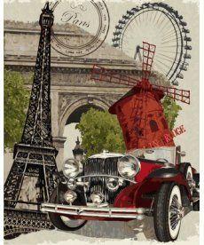 Картина по номерам Винтажная марка. Франция 40 х 50 см (VP689)