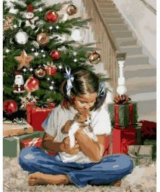 Картина по номерам Рождественский подарок 40 х 50 см (VP785)