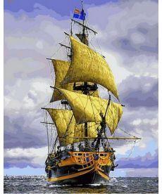 Картина по номерам Пиратский корабль 40 х 50 см (VP888)