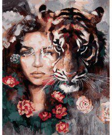 Картина по номерам Глаза тигра 40 х 50 см (VP966)
