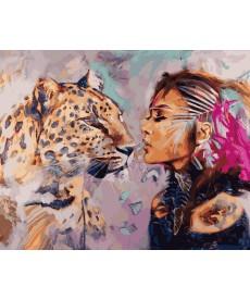 Картина по номерам Душа кошки 40 х 50 см (VP968)