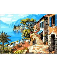 Картина по номерам Кафе у моря 50 х 65 см (VPS016)