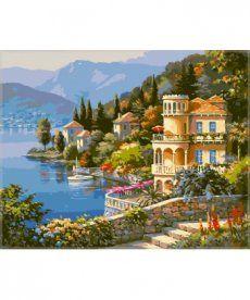 Картина по номерам Цветущее побережье 50 х 65 см (VPS019)