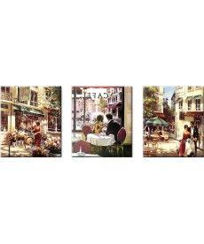 Картина по номерам Триптих. Летняя романтика Триптих 50 х 150 см (VPT001)