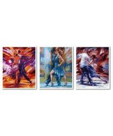 Картина по номерам Триптих. Танец страсти Триптих 50 х 120 см (VPT011)