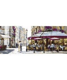 Картина по номерам Триптих. Полдень в Париже Триптих 50 х 150 см (VPT028)
