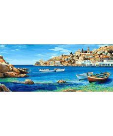 Картина по номерам Триптих Лазурное побережье Триптих 50 х 150 см (VPT033)