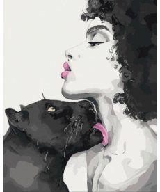 Картина по номерам Поцелуй пантеры 40 х 50 см (KH4506)