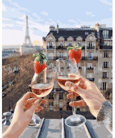 Картина по номерам Шампанское и клубника 40 х 50 см (BK-GX24907)