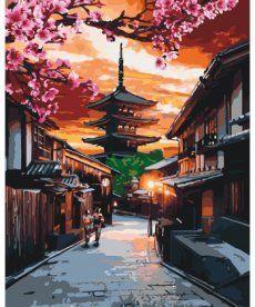 Картина по номерам Пагода на закате 40 х 50 см (KHO3525)