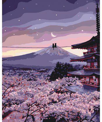 Картина по номерам Романтика цветущей сакуры 40 х 50 см (KHO3527)  - Фото 1