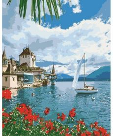 Картина по номерам Утро в Швейцарии 40 х 50 см (KH2734)