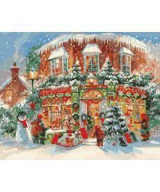 Картина по номерам Рождественский городок 40 х 50 см (KH3533)