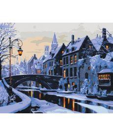 Картина по номерам Прогулка по ночному городу 40 х 50 см (KHO2243)