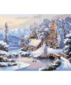 Картина по номерам Зимнее утро 40 х 50 см (KHO2244)