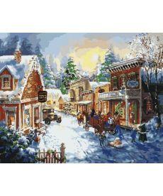 Картина по номерам В преддверии Рождества 40 х 50 см (KHO2247)
