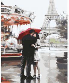 Картина по номерам Влюбленные под зонтом 40 х 50 см (BK-GX3015)