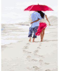 Картина по номерам Прогулка по белому песку 40 х 50 см (BK-GX23590)