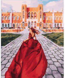 Картина по номерам Алое платье 40 х 50 см (PGX25424)