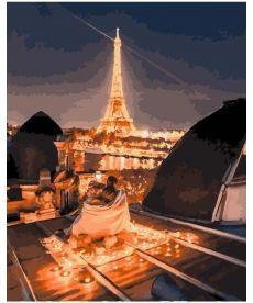 Картина по номерам Ночные крыши Парижа 40 х 50 см (PGX25447)
