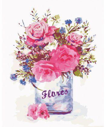 Картина по номерам Цветочный стиль 40 х 50 см (AS0345)
