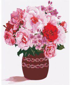 Картина по номерам Розовый букет 40 х 50 см (AS0354)