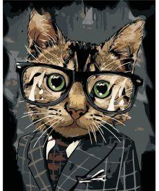 Картина по номерам Офисный кот 40 х 50 см (AS0398)