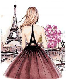 Картина по номерам Красотка в Париже 40 х 50 см (AS0442)