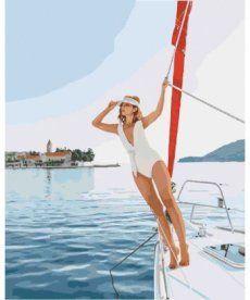 Картина по номерам Прогулка на яхте 40 х 50 см (KH4525)