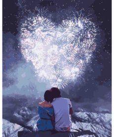 Картина по номерам Влюбленные сердца 40 х 50 см (KH4527)