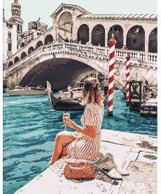Картина по номерам Влюбленная в Венецию 40 х 50 см (KHO4526)