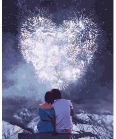 Картина по номерам Влюбленные сердца 40 х 50 см (KHO4527)