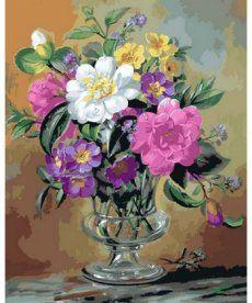 Картина по номерам Розы и анютины глазки 40 х 50 см (MR-Q2162)