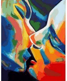 Картина по номерам Абстракция Поцелуй 40 х 50 см (MR-Q2175)