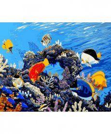 Картина по номерам Коралловый риф 40 х 50 см (MR-Q2177)
