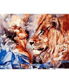 Картина по номерам Его лев 40 х 50 см (VP1071)